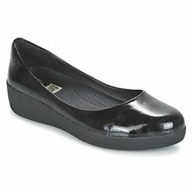 FitFlop  PATENT SUPERBALLERINA  women's Shoes (Pumps / Ballerinas) in Black