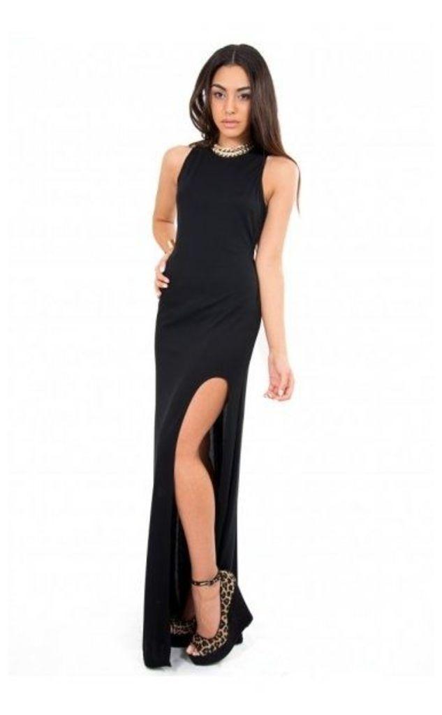 Limited Edition High Split Maxi Dress In Black