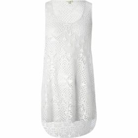 River Island Womens White crochet vest