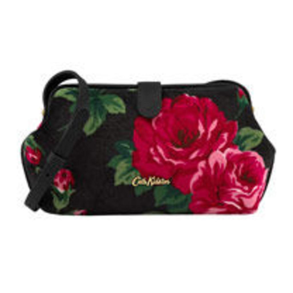 Ardingly Rose Velvet Frame Cross Body Bag