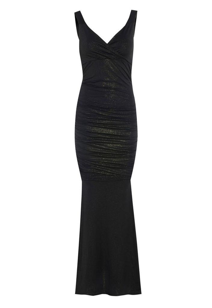 Honor Gold Gabriella Maxi Dress in Black and Gold