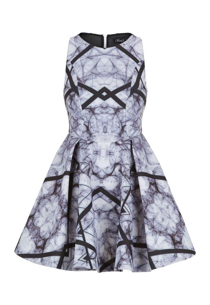 Skeena S Cyclone Onyx Rapture Scuba Dress