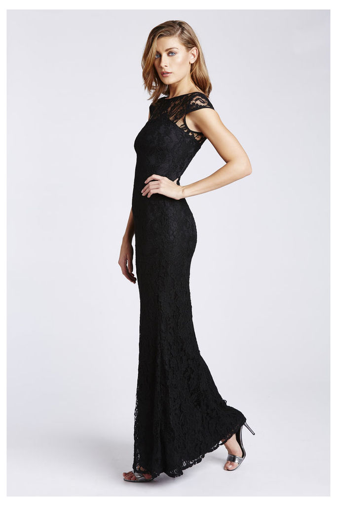 D.Anna Black Lace Maxi Dress