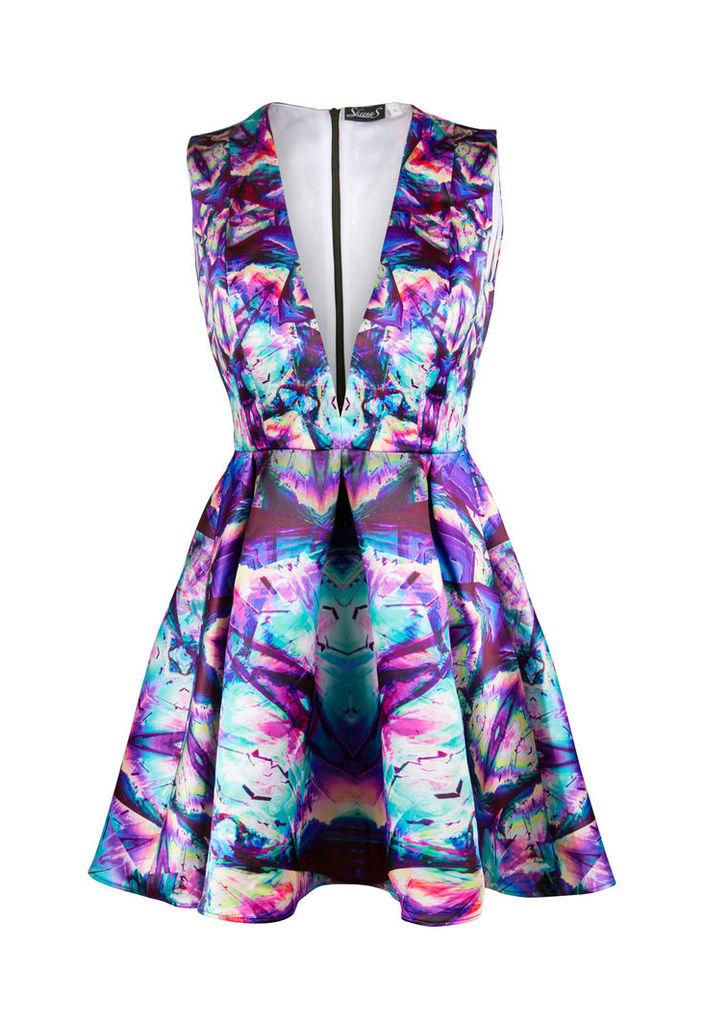 Skeena S Serena Psychedelic Print Skater Dress