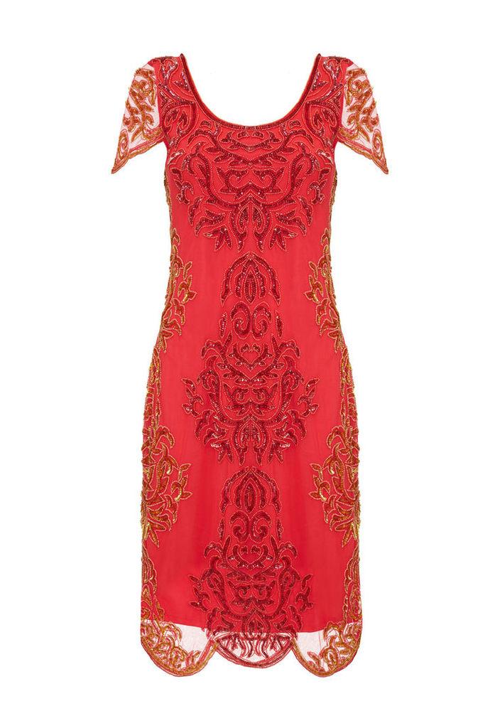 Gatsbylady Alice Flapper Dress in Red