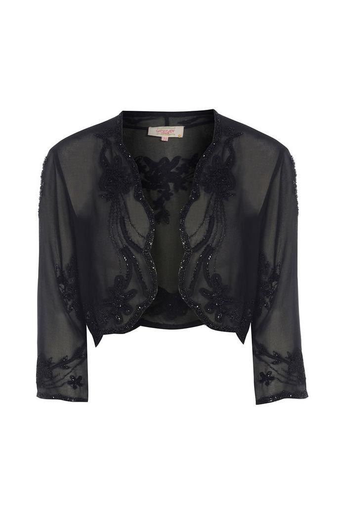 GatsbyLady Bolero Jacket in Black