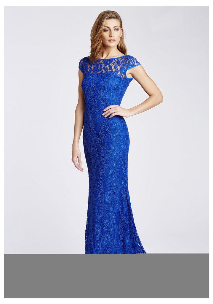 D.Anna Blue Lace Maxi Dress