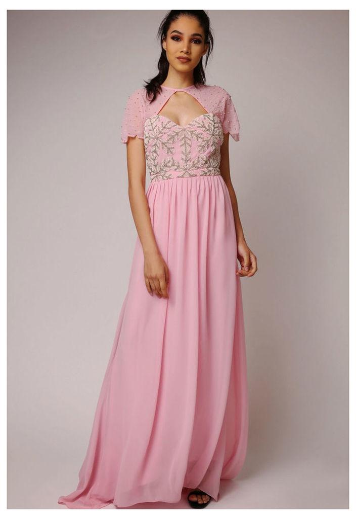 Virgos Lounge Laima Maxi Dress in Pink