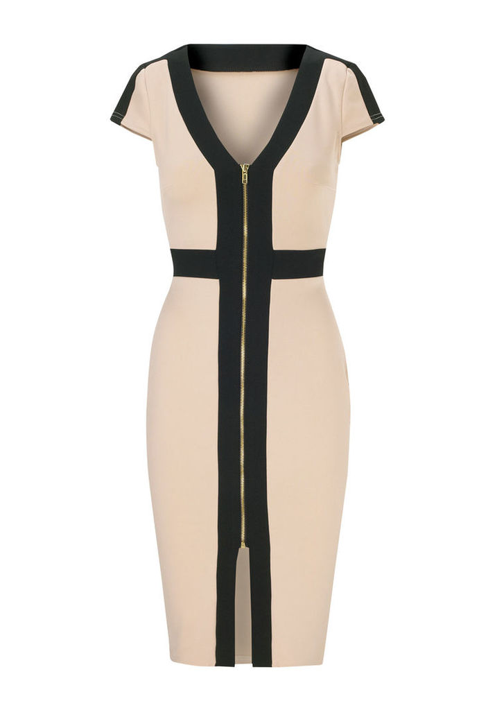 Lipstick Boutique Jessica Wright Katie Dress in Black and Nude