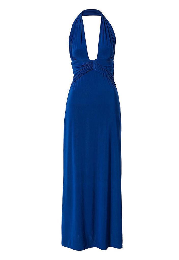 Honor Gold Louise Blue Maxi Dress