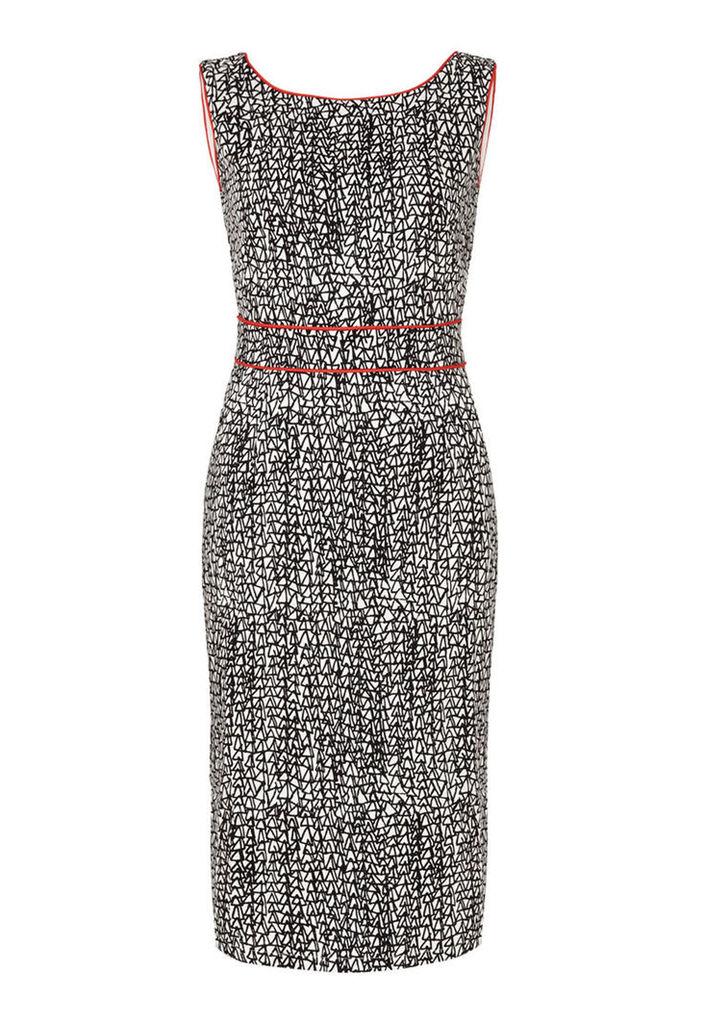 Zibi London Geo print V Back Dress