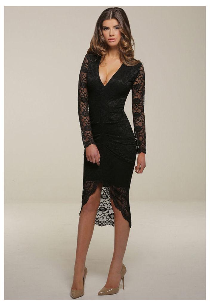 Honor Gold Savannah Midi Dress in Black