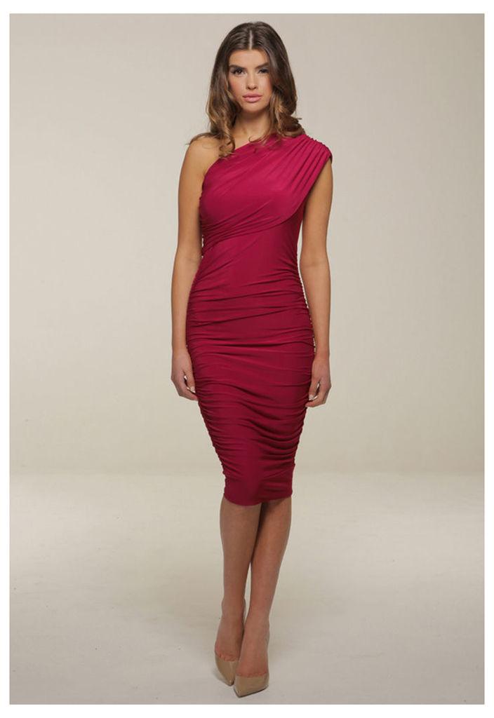 Honor Gold Alicia Midi Dress in Berry