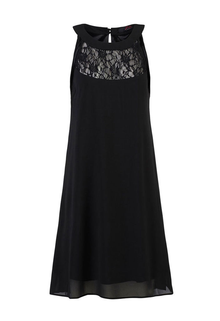 Zibi London Black Lace Halter Neck Dress