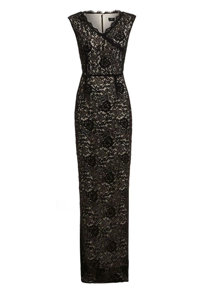 D.Anna Floral Lace Maxi Dress