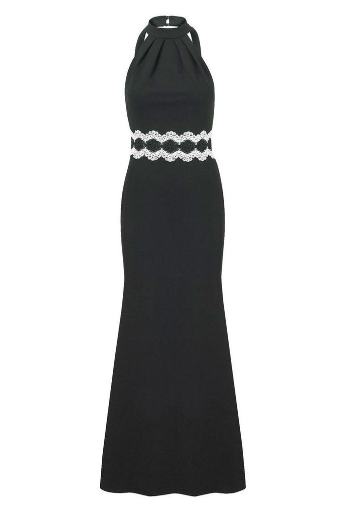 Sistaglam by Lipstick Boutique Airiel Halterneck Maxi Dress in Black