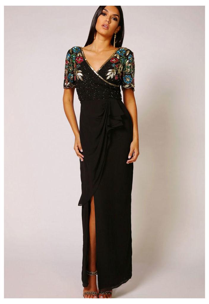 Virgos Lounge Ariann Maxi Dress in Black