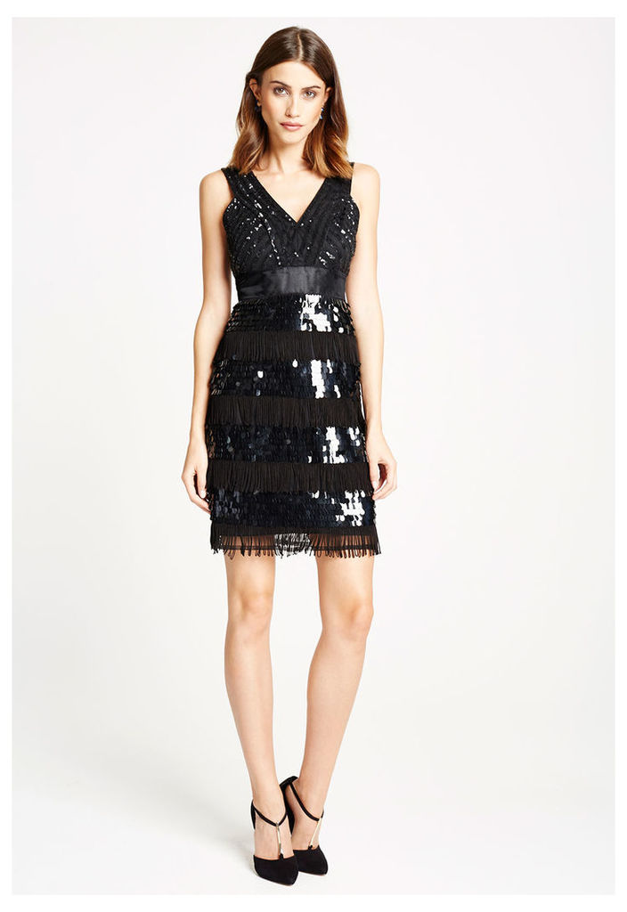*Available for Pre-Order* LBD Roxy Sequin And Tassel Flapper Dress