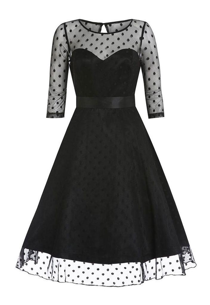 Lindy Bop Abigail Dress in Black