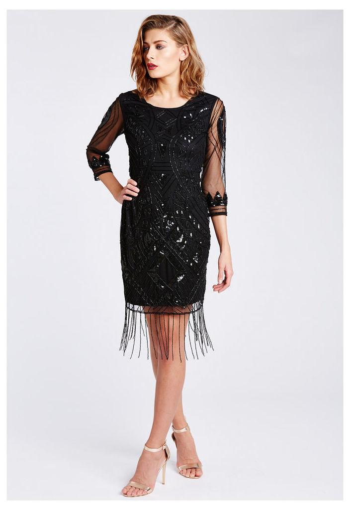 The LBD Clara Flapper Dress in Black