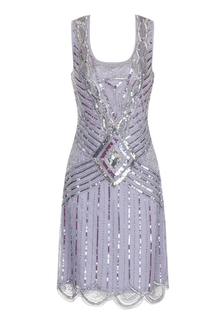 Frock and Frill Athena Flapper Dress in Lilac