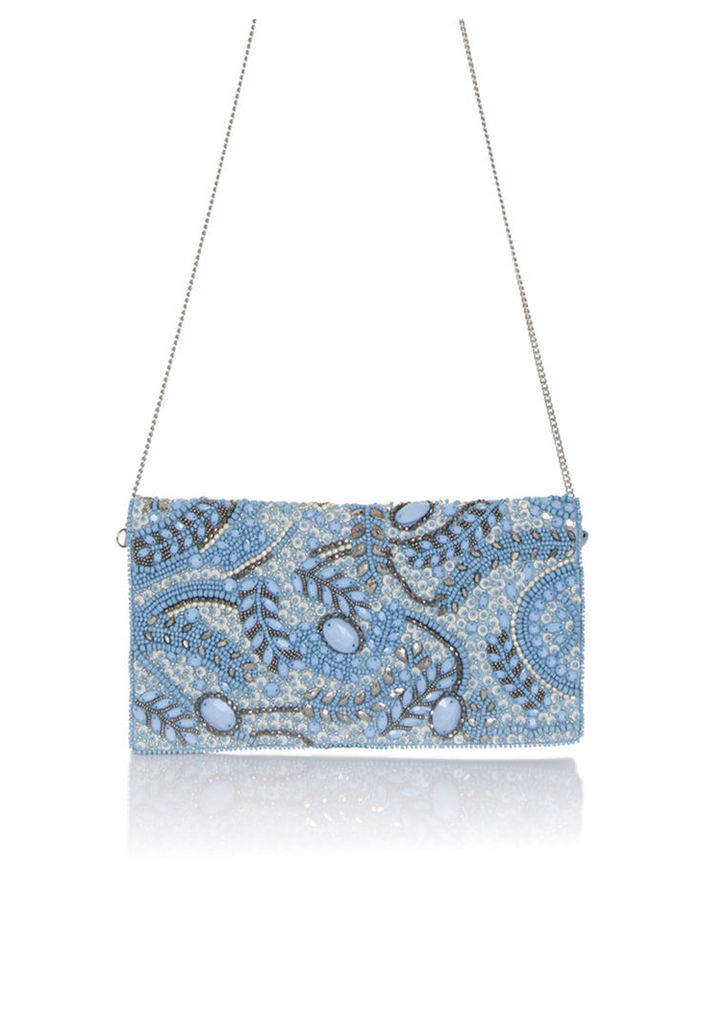 Frock and Frill Bluebell Hand Embellished Clutch Bag
