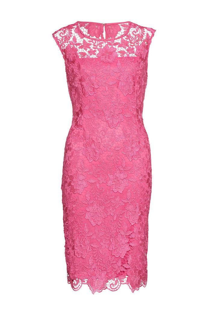 Gina Bacconi Bouquet Guipure Lace Shift Dress