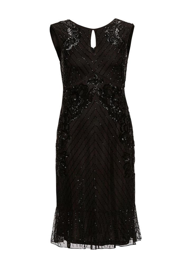 Gina Bacconi Embellished Dress in Black