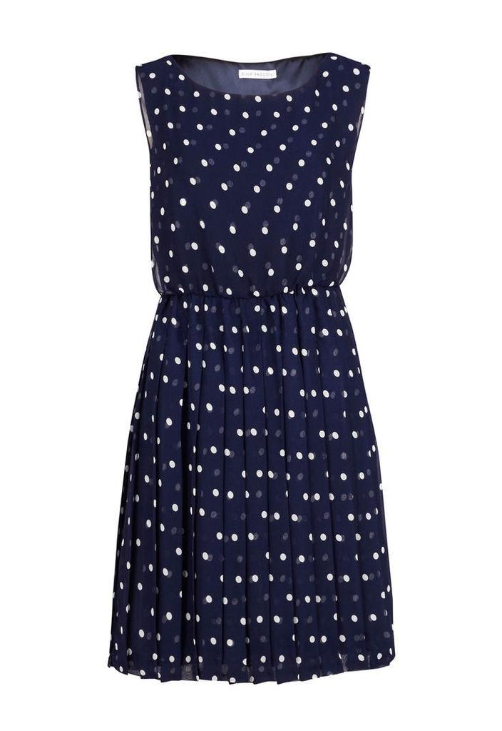 Gina Bacconi Spot Chiffon Short Dress