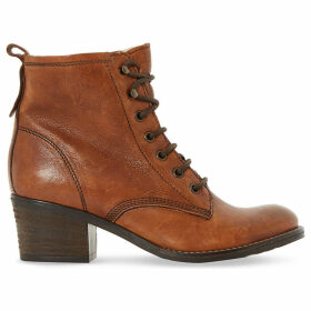 Dune Ladies Tan Stylish Leather Lace Up Patsie Ankle Boots, Size: EUR 39 / 6 UK WOMEN
