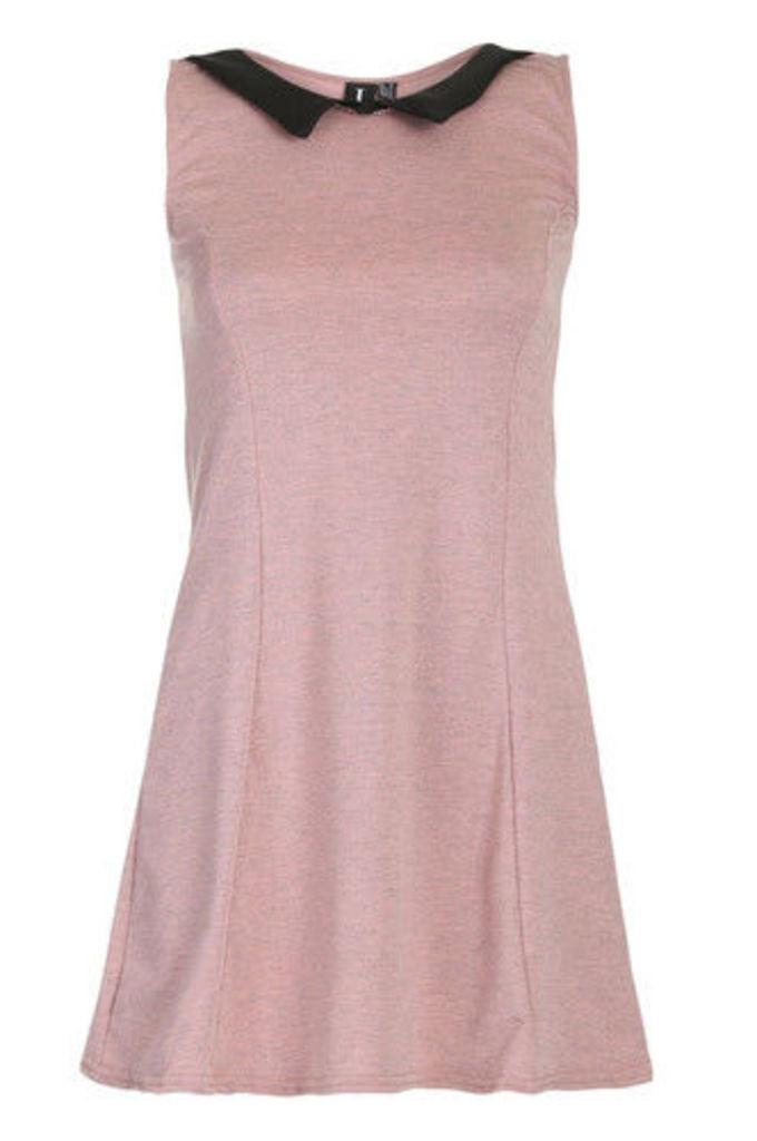 A-Line Contrast Collar Dress
