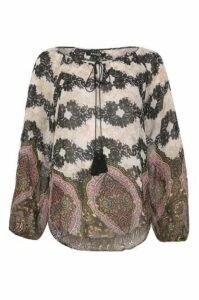 Lace Print Gypsy Top