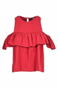 Off Shoulder Top With Oversize Ruffle
