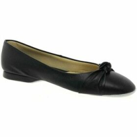 Relax Slippers  Knot Leather Slipper  women's Shoes (Pumps / Ballerinas) in Black