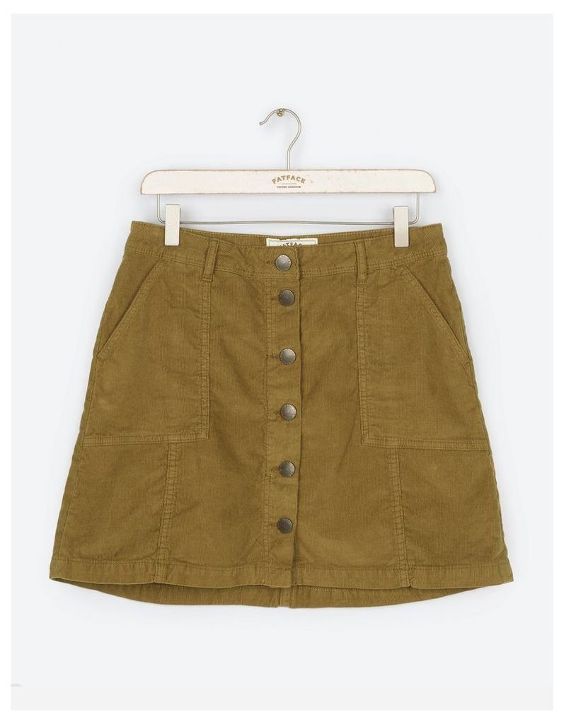 Fat Face Carrie A Line Cord Mini Skirt