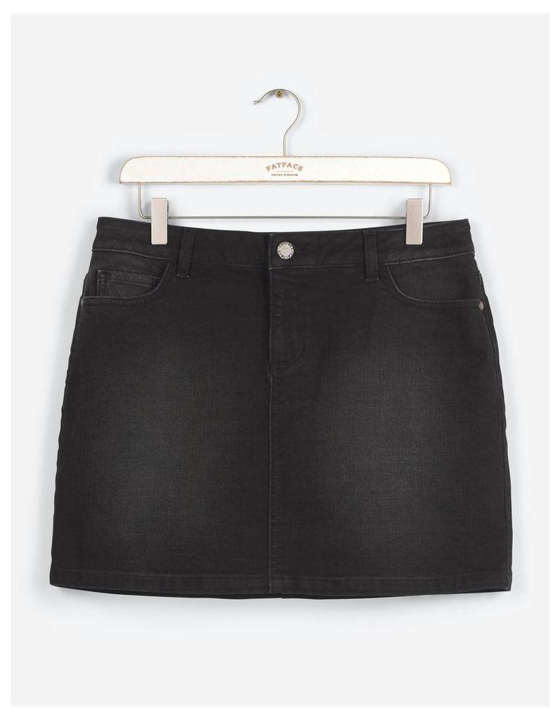 Fat Face Denim Mini Skirt