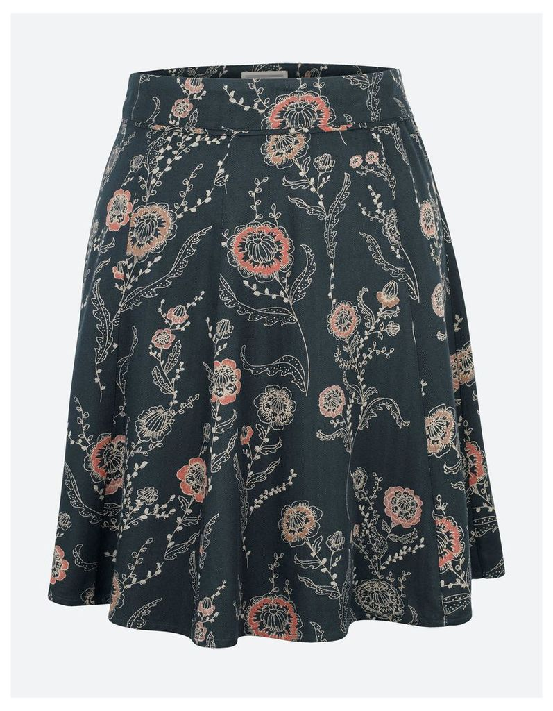 Fat Face Audrey Trailing Poppies Skirt
