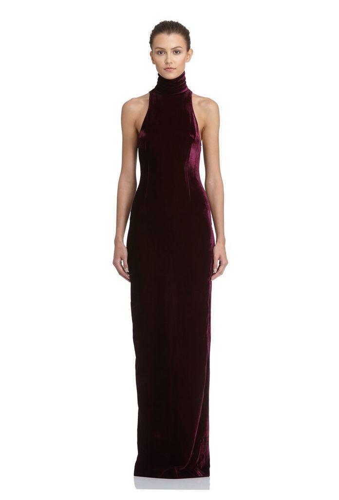 Hale Velvet Maxi Dress - Deep Fig