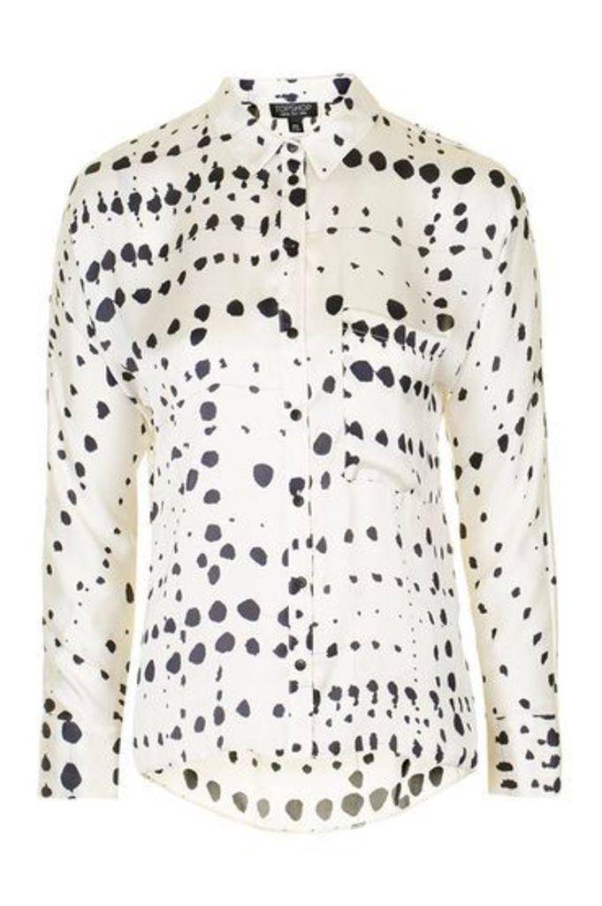 Womens PETITE Dalmation Slouch Shirt - Monochrome, Monochrome