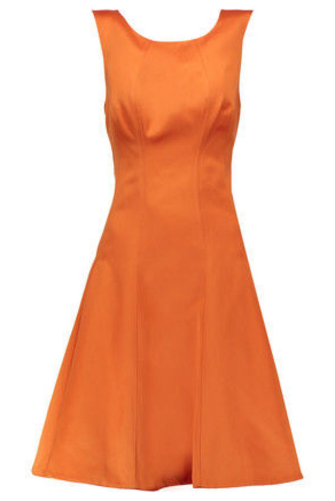 Zac Posen - Duchess-satin Dress - Orange