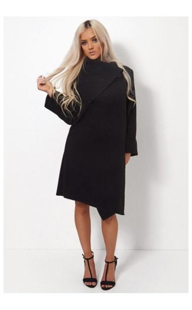 Laurie Black Wrap Coat