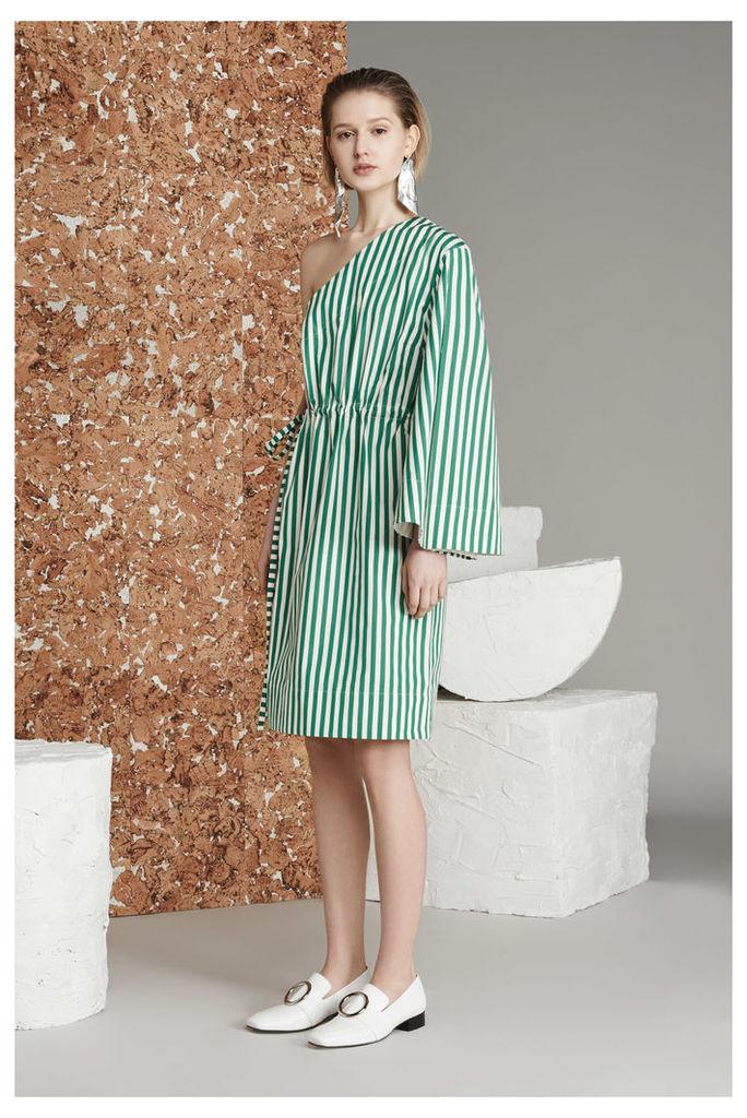 Aylin Dress Green Stripe