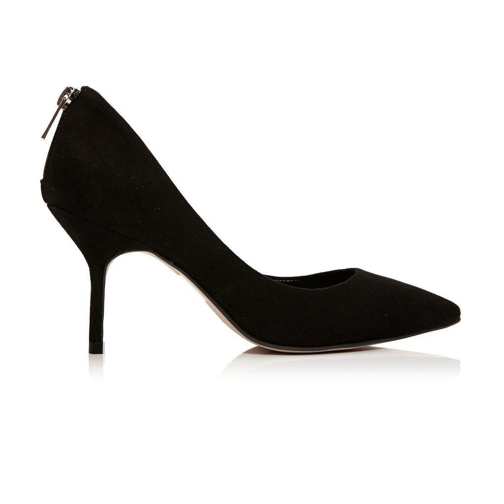 Moda in Pelle Carroli Black Medium Smart Shoes