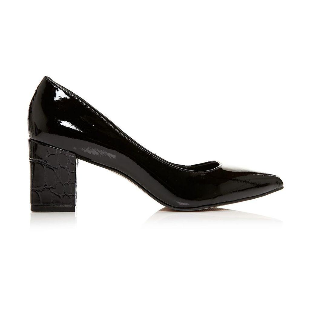 Moda in Pelle Carmilla Black Medium Smart Shoes