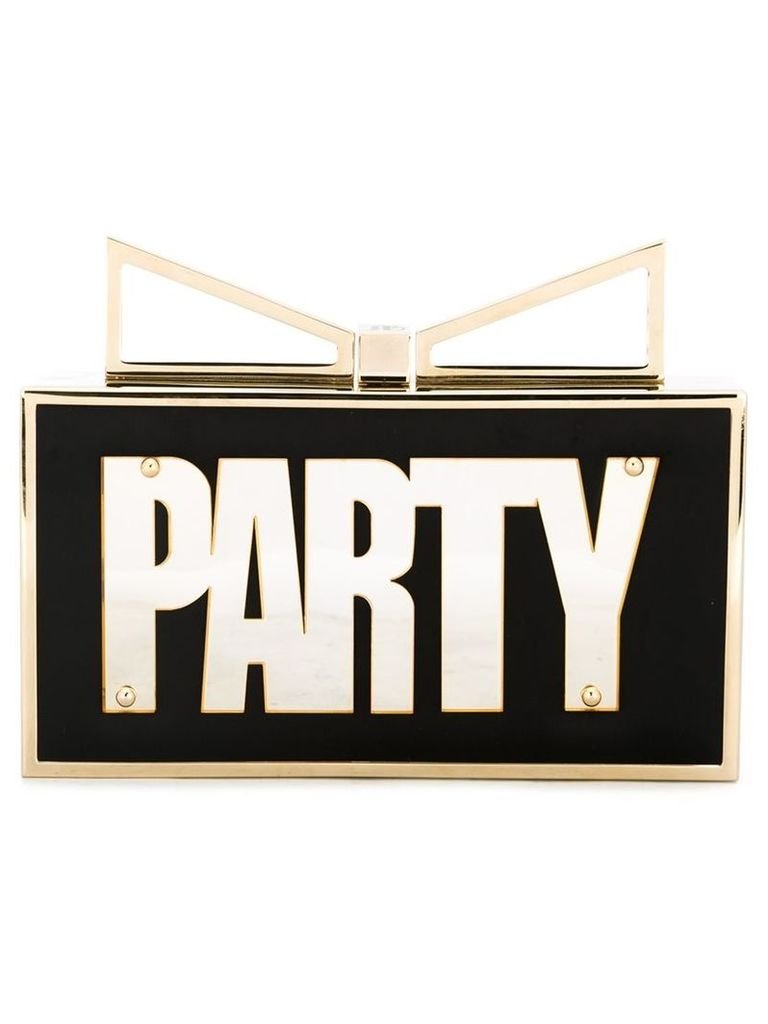 Sara Battaglia 'Lady Me Party Night' clutch, Women's, Black