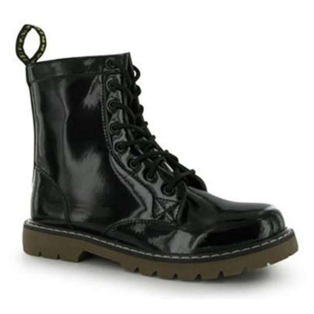 Fabric 8 Eyelet Boots