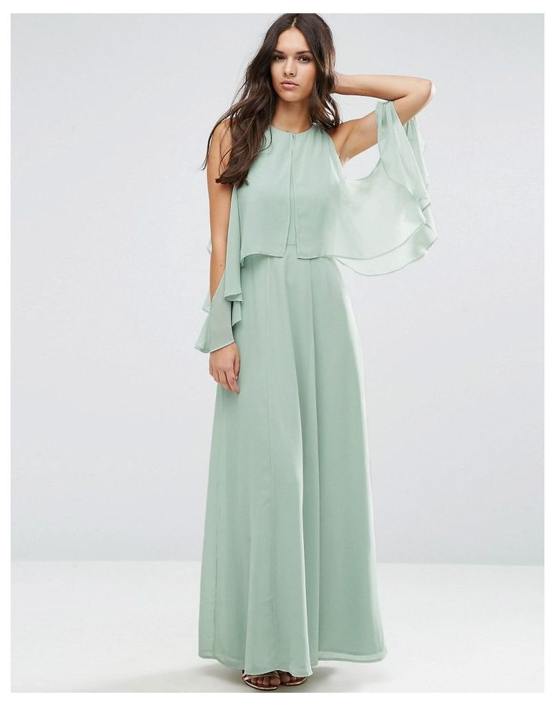 ASOS Extreme Cold Shoulder Maxi Dress - Soft mint