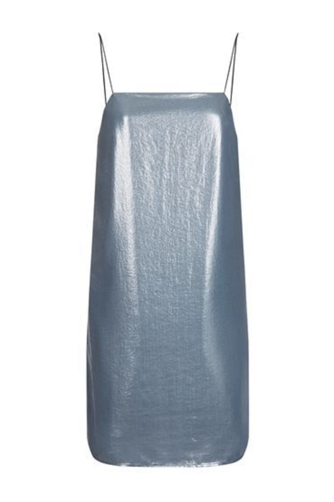 Womens Metallic Strappy Dress - Slate, Slate