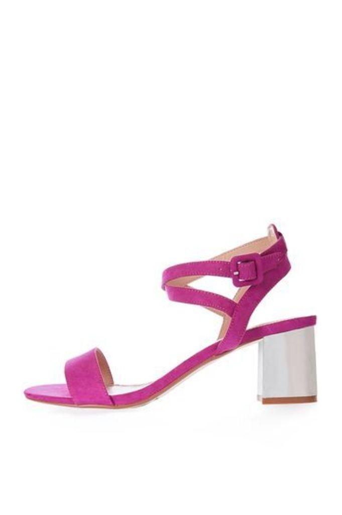 Womens DIANA Heeled Sandals - Pink, Pink