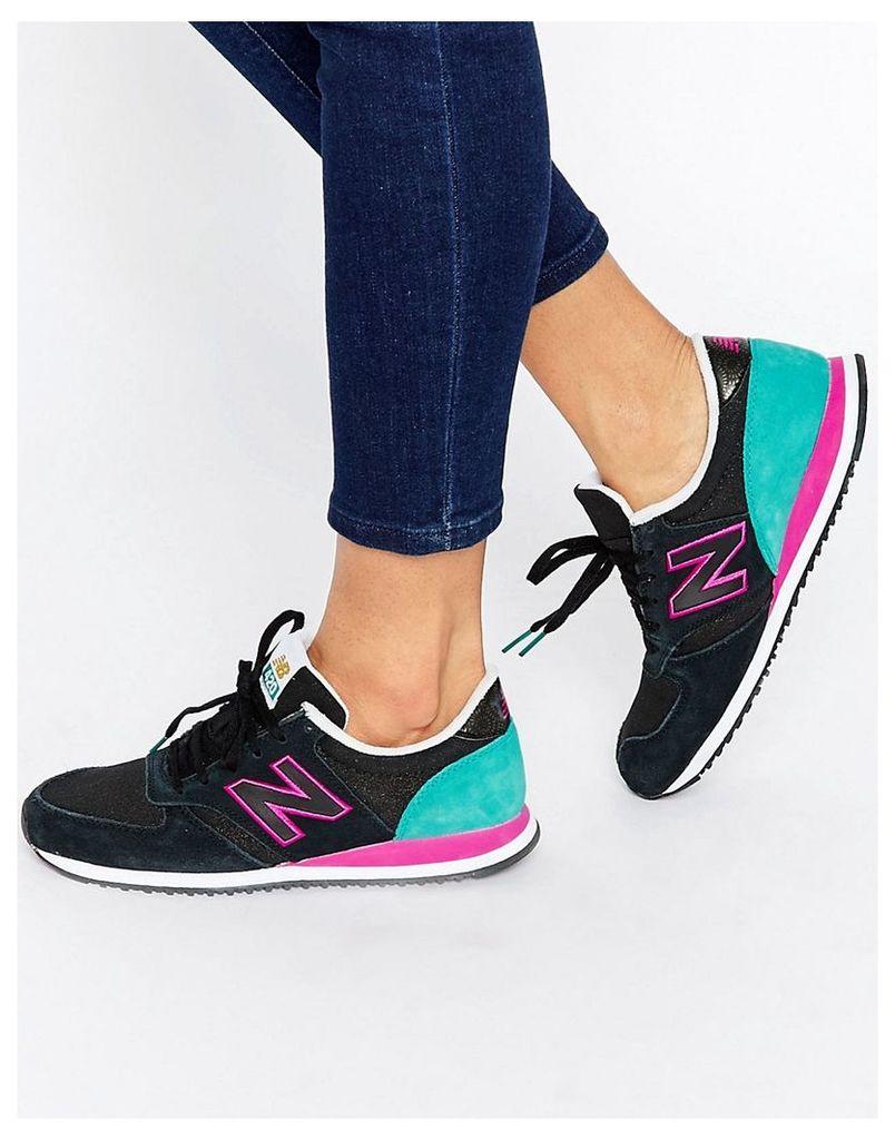 New Balance 420 Black & Pink Trainers - Black multi